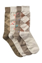 Tommy Bahama Casual Crew Socks Pack Of 4 Beige