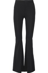 Givenchy Stretch Crepe Flared Pants Black