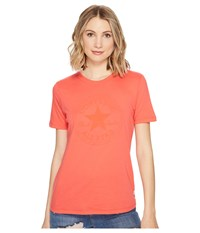 Converse Puff Chuck Patch Short Sleeve Crew Tee Ultra Red Women's T Shirt