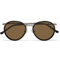 Dries Van Noten Round Frame Acetate And Metal Sunglasses Black