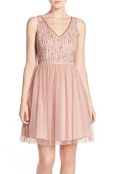 Women's Adrianna Papell Beaded Tulle Party Dress