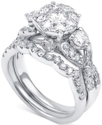 Macy's Diamond Bridal Set 2 Ct. T.W In 14K White Gold