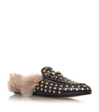Gucci Princetown Studded Slippers Female Gold