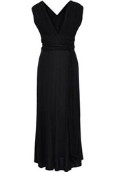 Tome Woman Belted Jersey Maxi Dress Violet