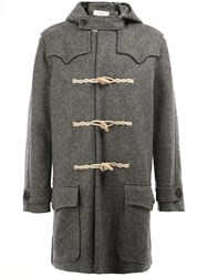 Faith Connexion Lapel Detail Duffle Coat Grey