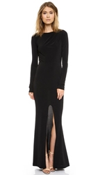 Rachel Zoe Long Sleeve Gown Black
