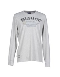 Blauer Topwear T Shirts Men Light Grey