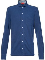 Isaia Long Sleeve Shirt Blue