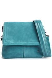 Halston Dylan Suede Shoulder Bag Teal