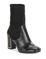 Karl Lagerfeld Karelle Leather Panel Ankle Boots Black