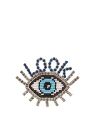 Shourouk Emojibling Look Eye Brooch Multi