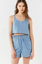 Urban Renewal Remade Denim Short Two Piece Set Blue