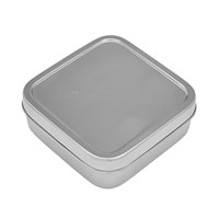 Hay Small Steel Lunch Box Silver