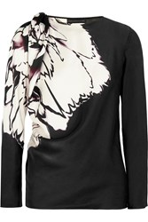 Maria Grachvogel Eloria Printed Silk Satin Top