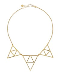Jules Smith Designs Jules Smith Triple Triangle Necklace Golden