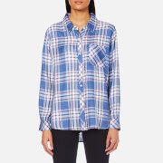 Rails Women's Hunter Check Shirt Sky White Daffodil Blue White