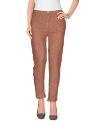 Soho De Luxe Trousers Casual Trousers Women Brown