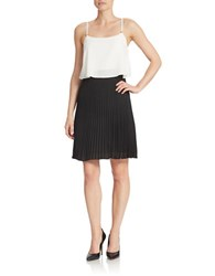 Ivanka Trump Colorblocked Popover Dress Ivory Black