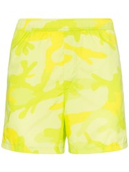 Valentino Camouflage Print Swimming Trunks Green