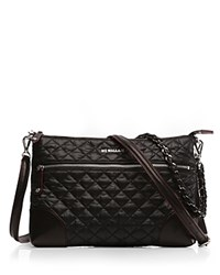 M Z Wallace Mz Crosby Nylon Crossbody Black Silver