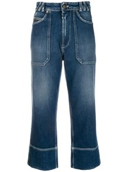 Mr And Mrs Italy Cropped Jeans Blue