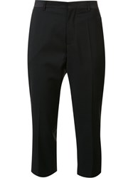 Maison Martin Margiela Cropped Tuxedo Trousers Black
