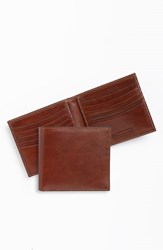 Men's Trafalgar 'Cortina' Bifold Wallet Brown Honey Maple