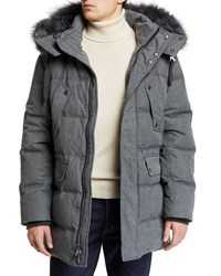 Andrew Marc New York Rockland Down Parka With Fur Trim Black