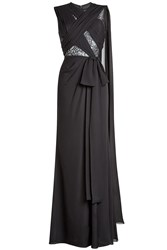 Elie Saab Floor Length Silk Gown With Lace