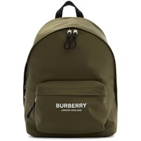 Burberry Green Canvas Jett Backpack