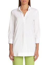 Piazza Sempione Poplin Tunic Optical White