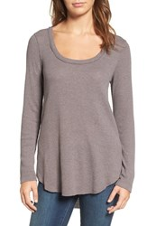 Hinge Women's Shirred Back Thermal Tee