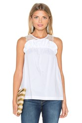 Marissa Webb Mercer Cotton And Lace Shell Top White