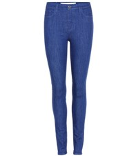 Victoria Beckham Powerhigh High Waisted Jeans Blue