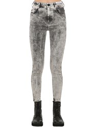 Diesel Slandy High Rise Skinny Denim Jeans Grey