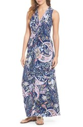 Tommy Bahama 'S Paisley Promenade Maxi Dress Kingdom Blue
