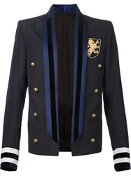 Balmain Military Dress Style Blazer Black