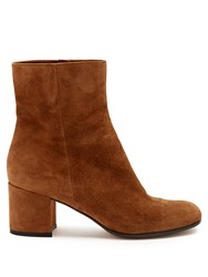 Gianvito Rossi Margaux Suede Ankle Boots Tan