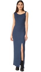 The Hours Twisted Strap Maxi Dress Blue