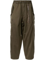 Mastermind World Ankle Length Casual Trousers Green