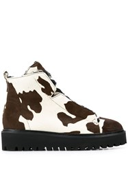 Kennel Schmenger And Cow Print Ankle Boots Neutrals