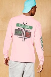 Forever 21 Bleach Surf Graphic Tee Pink