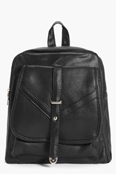 Boohoo Buckle Trim Rucksack Black