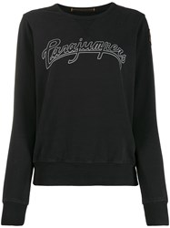 Parajumpers Round Neck Logo Sweater Black