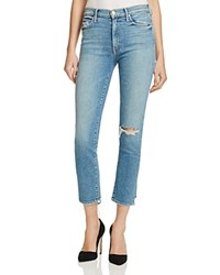 Mother High Rise Rascal Ankle Jeans In Blue