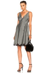 Alexander Wang Low V A Line Tunic In Gray