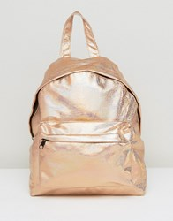 Asos Hologram Backpack Rose Gold