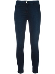 Twin Set Cropped Super Skinny Jeans Blue