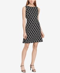 American Living Chevron Knit Dress Black White