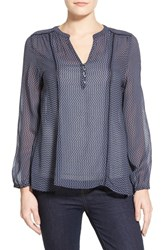 Women's Casual Studio Blouse Navy Stripe